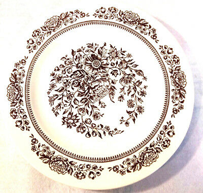 """Royal China Jeannette Sussex 10"""" Dinner Plate Floral Plate Oven Dish Safe USA"""