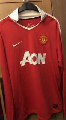 new product 80dab b0712 MANCHESTER UNITED NIKE HOME SHIRT (AON) 2010-2011 (Large Mens)(