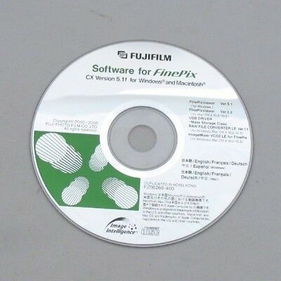 New Fujifilm Software Cd Finepix Cx Version 5.1 Windows & Mac Raw File Converter