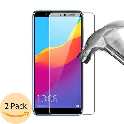 2X Tempered Glass Screen Protector Film For Huawei Y6 II Y9 Y7 Prim 2018 Y6 Pro
