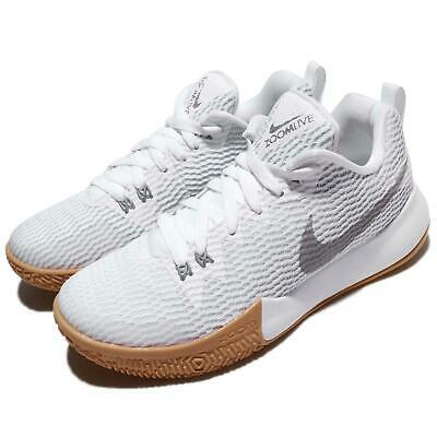 bbf0f92490e Nike Wmns Zoom Live II EP White Silver Gum Women Basketball Shoes AH7579-100