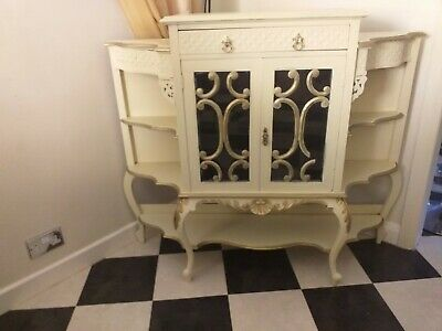 Antique French Chateau Armoire salon cabinet, Louis, Rococo. Shabby Chic.
