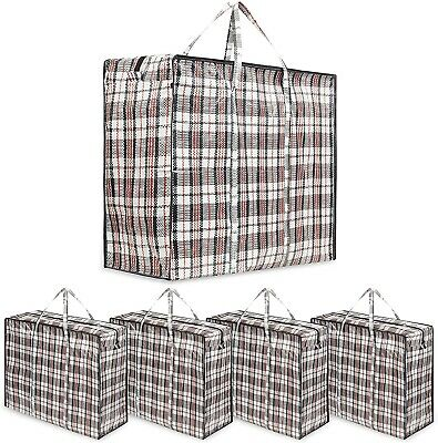 DECO EXPRESS Large Strong Laundry Bags Moving Storage Bag (Pack of 5 bags)