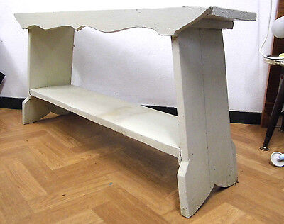 Bank 90 Cm Sitzbank Mid Century Rockabilly Shabby Chic Holzbank