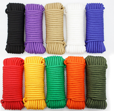 wholesale 2-10mm 20Meter Parachute Cord Lanyard Rope Nylon Survival Outdoor