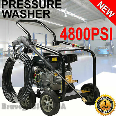 10HP Petrol High Pressure Washer Cleaner 4800PSI Water Blaster Gurney 20m Hose