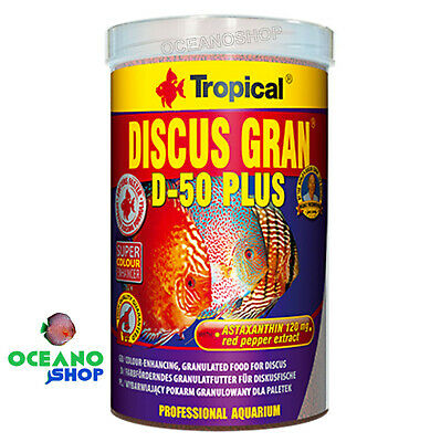 Tropical discus gran D-50 plus 1000ml granulo para peces disco potenciador color