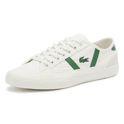 Lacoste Sideline 119 4 Mens Off White / Green Trainers Lace Up Sport Casual Shoe