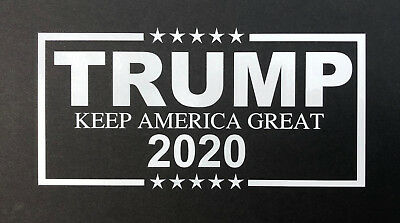 Donald Trump 2020 MAGA Decal WHITE Vinyl Bumper Sticker Make America Great Again