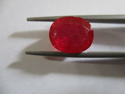 RUBY CORUNDUM NATURAL MINED [TREATED] LOVELY COLOUR HUES 7.75Ct  MF8623