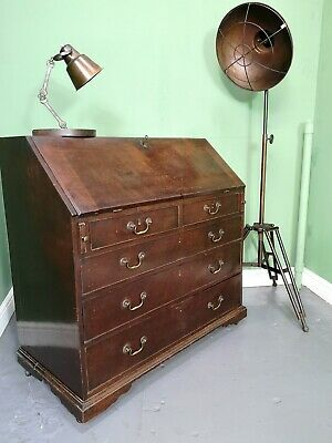 An Antique George III Mahogany Bureau Desk ~Delivery Available~