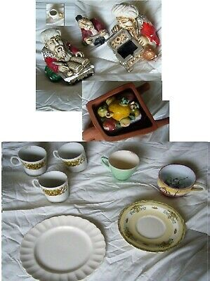 JOBLOT 12x CERAMIC STATUES ORNAMENTS & PLATES MINI MUG MAY BE CHINA