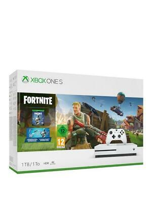 Microsoft Xbox One S Console, 1TB, with Wireless Controller and Fortnite Game