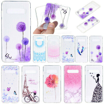 For Samsung S10 Plus S10e S9 S8 S7 Edge Clear Case TPU Back Silicone Case Cover