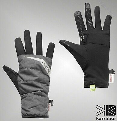 Mens Branded Karrimor Stylish Reflective Quilted Running Gloves S-L