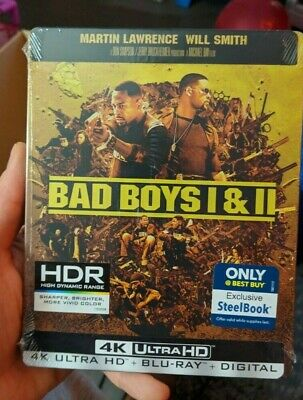 Bad Boys I & II - Best Buy Exclusive Steelbook (Blu-ray + 4K UHD) NEW!! 1 & 2