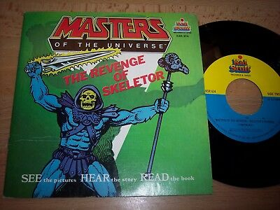 """NM 1983 Masters Of The Universe Revenge Of Skeletor 7"""" 45RPM w/pic slv w/booklet"""