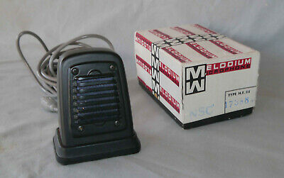 Superbe ancien microphone  Melodium H.F. 111  made in France
