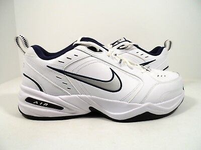 the best attitude e6af5 b7455 Nike Hommes Air Monarch IV Cross Trainer BlancArgentMarine Taille 13 Ans
