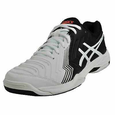 Asics Mens Tennis E705Y-0190 Gel-Game 6 White / Black Trainer