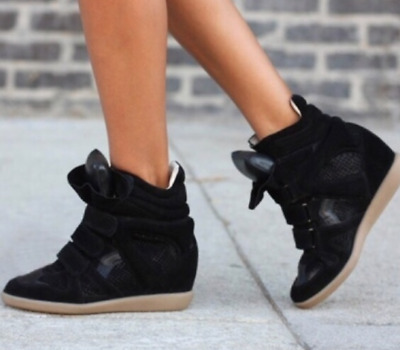 2815899cbbc STEVE MADDEN HILIGHT High Top Black Suede Sneaker Size 7 -  45.00 ...