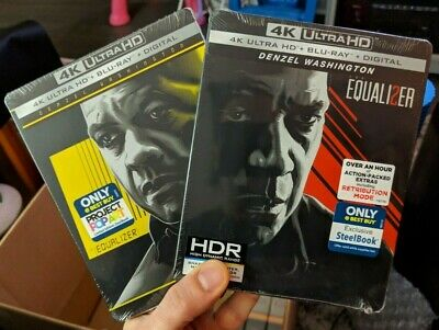 Equalizer 1 & 2 - Best Buy Exclusive Steelbook Set (Blu-ray + 4K UHD) BRAND NEW!