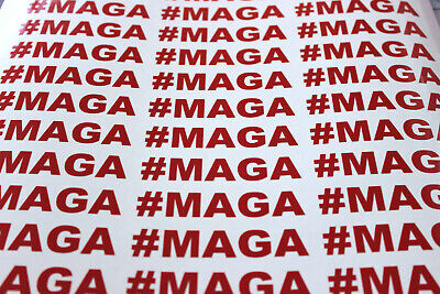 ccd49c14153 See Details. 10 Trump  MAGA Vinyl Bumper Stickers   Decals 2020 Make America  Great Again MAGA