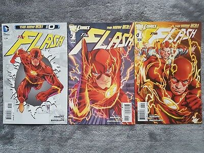 The FLASH (vol 4) #0 #1 and Ivan Reis Variant Lot DC New 52 First Print Set 2011