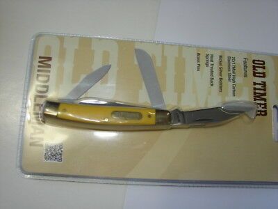 Schrade Old Timer 34Ot Yellow Stockman Knife