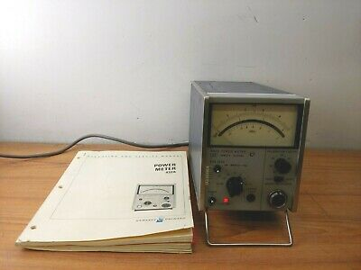 Hewlett Packard HP 432A Power Meter and Instruction Manual with Schematics