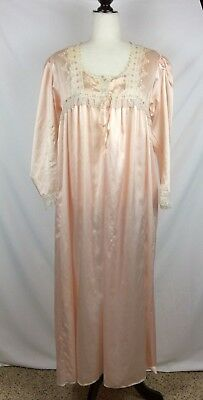 7a3fb82517 Christian Dior Lingerie vintage womens mumu dress M pink lace embroidered  satin