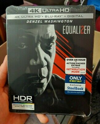 Equalizer 2 - Best Buy Exclusive Steelbook (Blu-ray + 4K UHD) BRAND NEW!!