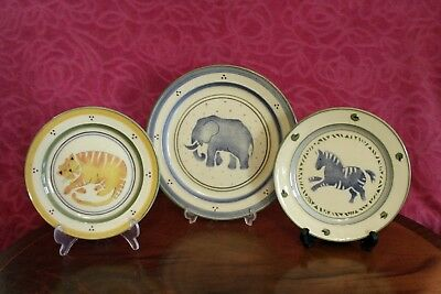 3 Beautiful Vintage  Plates by Vintage Willsgrove Ware Pottery