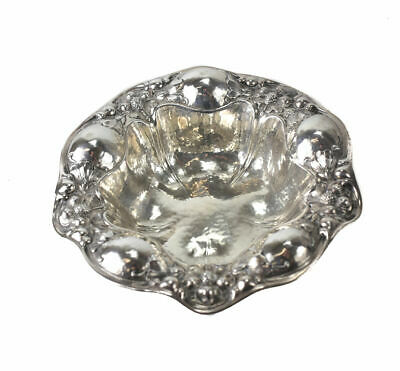 Gorham Mfg Co Sterling Silver Hand Hammered Nut Bowl, 1906