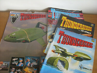Thunderbirds In Space / To The Rescue plus edition No 11 comic and 1992 calender