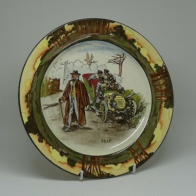 ROYAL DOULTON seriesware EARLY VINTAGE MOTORING Deaf plate c.1905 9 1/2 inch