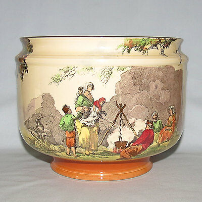 Royal Doulton seriesware jardiniere Lennox Flower bowl Gleaners Gypsies D4983