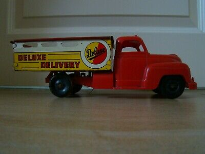 Blechspielzeug LKW Transporter Mar Toys USA Deluxe Delivery Tin Toy Tole Latta