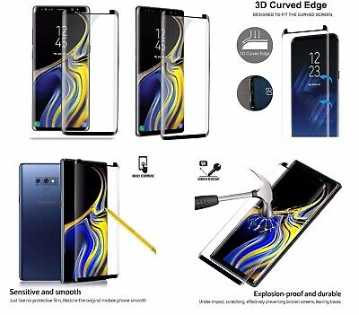 2x 3D Panzerfolie für Samsung Galaxy S9 Schutzglas Full Screen Display Hart Glas