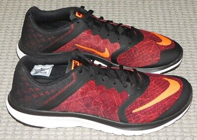 newest 874d9 2e951 NEW NIKE FS LITE RUN 3 PRINT RUNNING SHOES Mens 10.5 Black Red Sneakers  819166