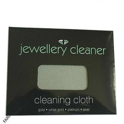 Jewellery Cleaner Cleaning Cloth - For Gold, White Gold, Platinum, Silver