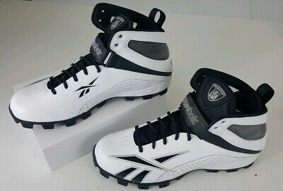 3a77765880a5 Reebok Mens Pro Workhorse ATF Football Cleats Size 14 White Black