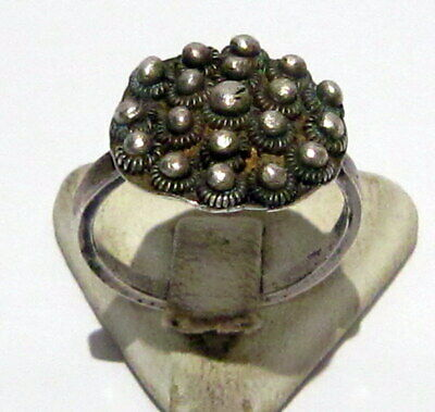 Amazing Post-Medieval Silver Ring With Beautiful Filigree  # 362
