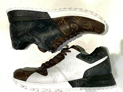 LOUIS VUITTON MONOGRAM RUN AWAY SNEAKER BM 0128 sz5 - WHITE/BROWN/BLACK (B45959)