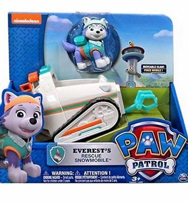 PAW PATROL EVEREST'S RESCUE SNOWMOBILE Brand New In Box Everest pup & Vehicle