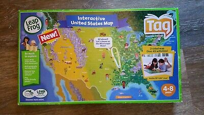 Leapfrog Interactive United States Map.Leapfrog Tag Pen Leapreader Map United States 2 Sided Interactive