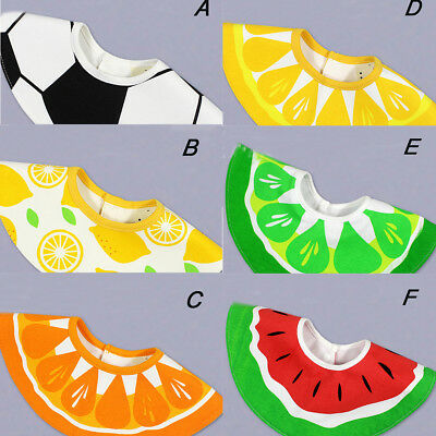 1 Pc Baby Bibs 360 Degree Rotatable Saliva Towel Bibs Fruits Infant Burp Cloths