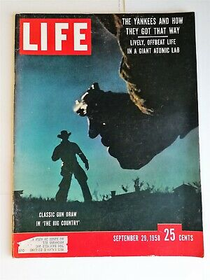 Life Magazine September 29, 1958 - New York Yankees - Western The Big Country