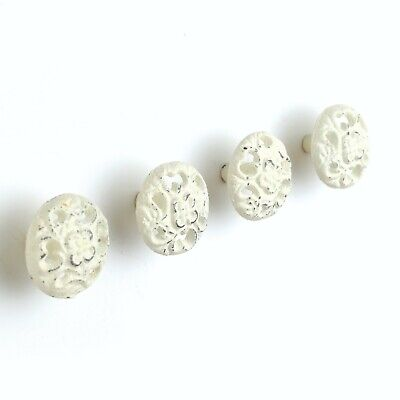 Vintage Set of 12 cast iron painted round Drawer Pull Knob button rustic