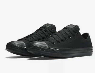 d1e032c829b1 Converse Unisex Chuck Taylor All Star Low Top Black Monochrome Sneakers 8 M  10 W